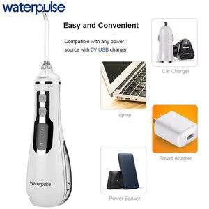 Image 3 - Waterpulse V500 口腔洗浄器歯科ポータブル水フロッサコードレス歯科洗浄器ジェット 4 モード 200 ミリリットル防水歯クリーナー