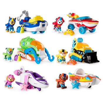 Original Paw Patrol toys Sea Rescue Dogs Vehicle Toys Set Anime Action Figure Model Cars Toy Children Paw Patrol Birthday Gift paw patrol toys action figure kids bag school cute knapsack canine paw patrol toys puppy patrol backpack children toy gift