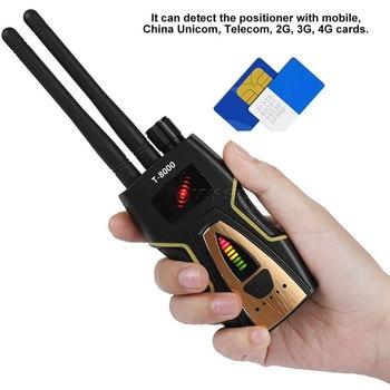 T8000 Radio RF Signal Detector Portable Anti Spy Hidden Camera Detector GSM Audio Bug Finder GPS Scanner Large Detection Range 4