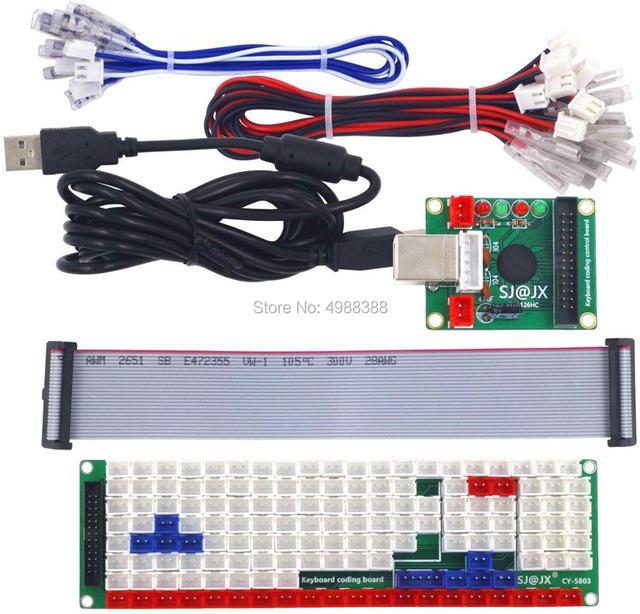تطوير لوحة المفاتيح التشفير مجلس أذرع التحكم في ألعاب الفيديو DIY بها بنفسك LED لوحة المفاتيح مجلس التنمية وسائل الإعلام الموسيقى USB التشفير 104 مفاتيح ممر DI