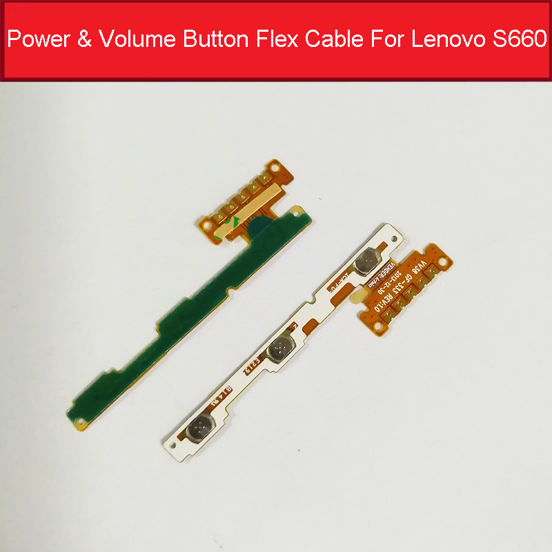 Power On/off+ Volume Up/down Button Flex Cable FPC For Lenovo S660 Side Key Control Phone Replacement Parts Accessories