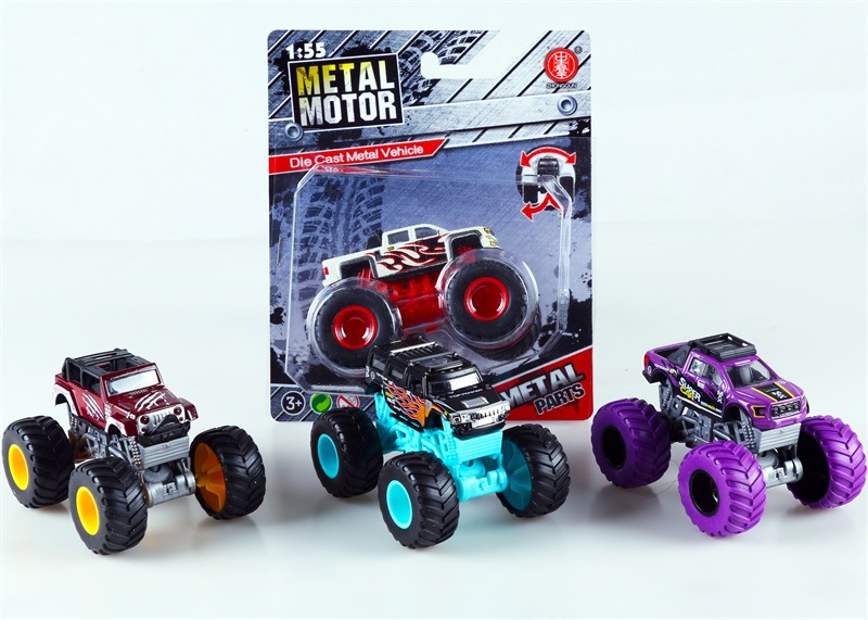 Douyin Hot Selling CHILDREN'S Toy Four-Wheel Drive Graffiti Buggy Stunts Monster Truck Model Car Model Toys