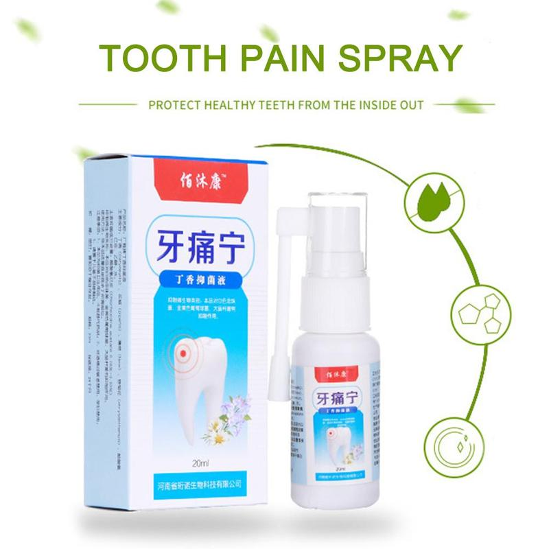Mint Oral Care Spray Dental Tooth Prevent Toothache Freshener Antibacterial Herbal Mouth Relief Toothache Oral Pain Spray C U1S3