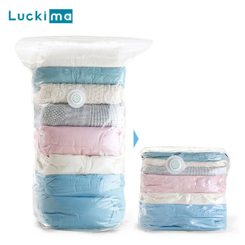 No Pump Needed Vacuum Storage Bags For Clothes Blankets Comforters Sweaters Pillows Home Compression Seal Bags Space Saver Bags