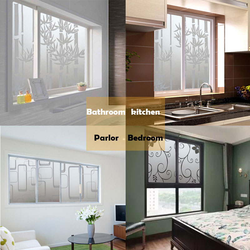 Frosted Window-Film Bathroom Glass-Film Privacy-Protection Opaque 45cm--2m/1m