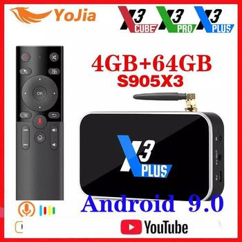 X3 PRO Amlogic S905X3 TV BOX Android 9.0 TV Box X3 CUBE 4GB RAM 64GB ROM Set Top Box 2.4G/5G WiFi 1000M 4K X3 PLUS Media Player
