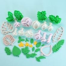 3/4pcs Cute Baking Biscuit Mold Diy Leaf Shape Embossing Cookie Cutter Fondant  Leaf Mold Supply