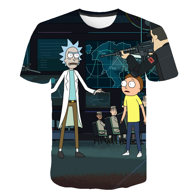 Rick And Morty Kids T Shirt Boys Anime T Shirt Chinese 3d Printed T-shirt Hip Hop Tee Cool Girls Clothing 2020 New Summer Top