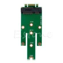 1 pc msata mini pci-e 3.0 ssd para ngff m.2 b chave sata interface adaptador cartão
