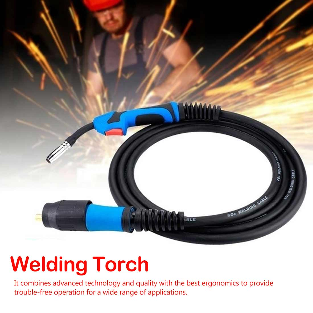 Mig Mag CO2 Welding Torch Air Cooled MB 1PCS 15AK 14AK Swan Neck Contact Tip Holder Gas Nozzle Solenoid Valve
