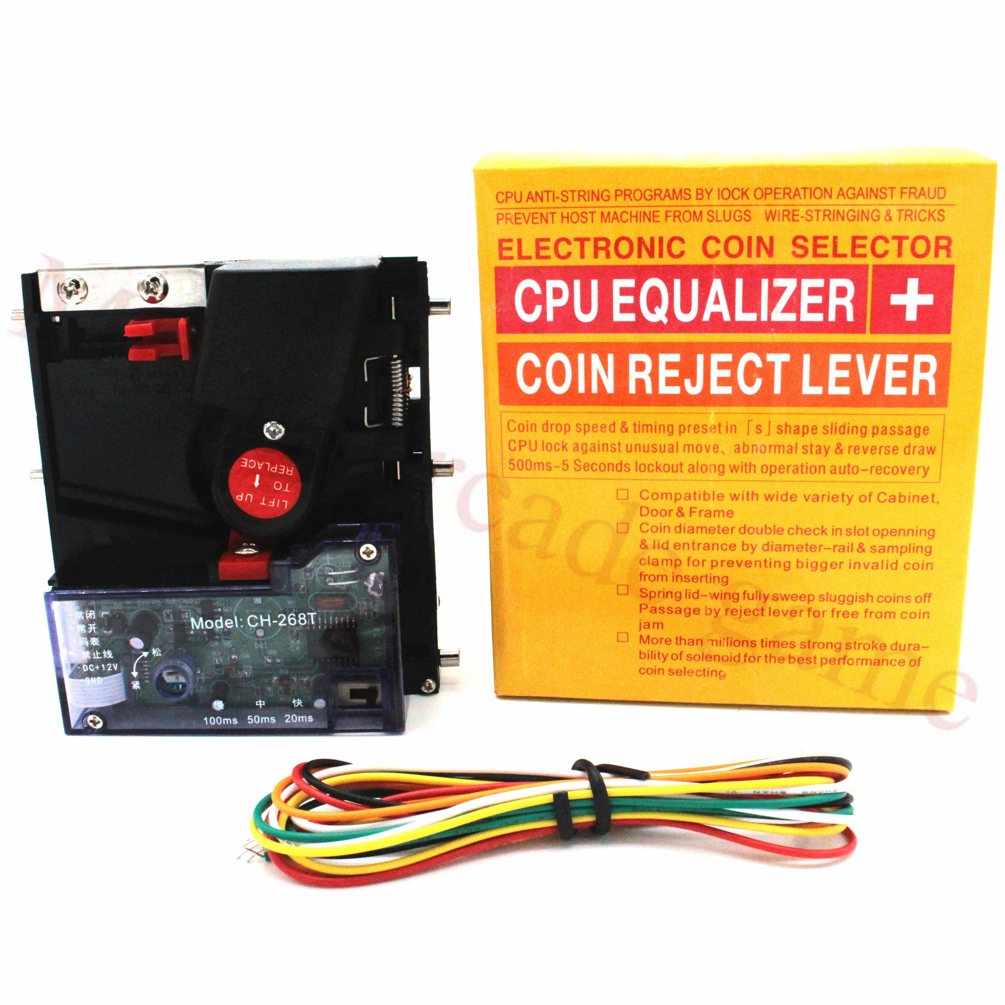 CH-268T de entrada superior, Selector de monedas individual, receptor de monedas Vertical para máquina expendedora de Arcade, Selector de fichas, Mech