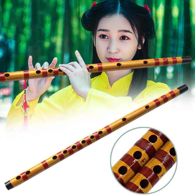1 Pcs Professional Flute Bamboo Musical Instrument Handmade for Beginner Students FG66