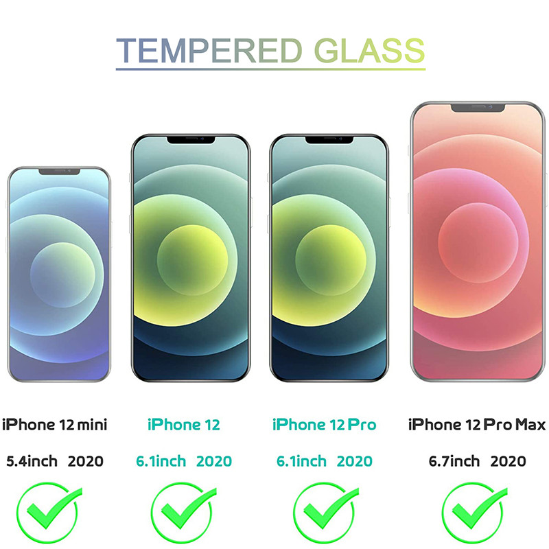 Full Cover Protective Glass for IPhone 12 Pro Glass Screen Protector 12 Mini Tempered Glass for IPhone 12 Pro Max Glass