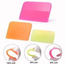 Foshio Soft Zuigmond Tpu Ppf Schraper Voor Auto Wrap Transparante Beschermende Film Carbon Sticker Vinyl Wrapping Installeren Tool