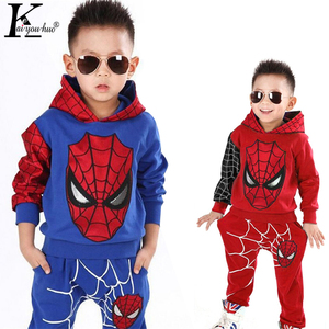 Crianças roupas outono inverno da criança meninos conjuntos de roupas de páscoa spiderman traje roupas para o menino terno 3 6 7 ano