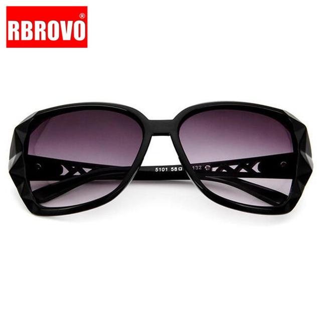 RBROVO-gafas De Sol con montura grande para mujer, anteojos De Sol femeninos con gradiente Vintage De diseñador De marca, gafas para ir De compras, UV400, De viaje, 2021 5
