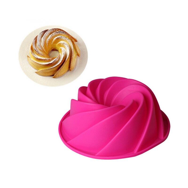 Vortex Individual, molde grande de silicona para hornear, molde de pastel, molde de gelatina DIY, molde para hornear Molde de silicona con forma de oso, herramientas para decorar pasteles, bandeja para galletas de bricolaje, cortador de gelatina, troquel de corte 3D, pastel de cocina para hornear, Color al azar