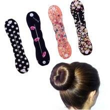Модная женская Губка для волос зажим укладки пучка приспособление