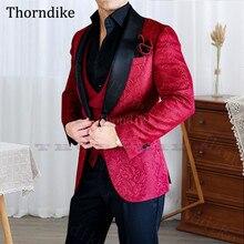 Shawl Wedding-Suit Groom Tuxedos Custome Jaquard Thorndike Black Three-Pcs Men's Lapel