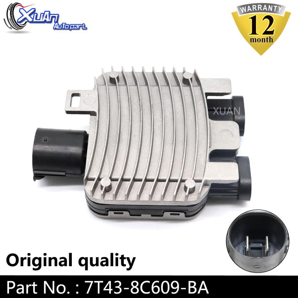 XUAN พัดลมระบายความร้อนพัดลมระบายความร้อนโมดูล 7T43-8C609-BA สำหรับ Volvo S60 V60 S80 V70 XC60 XC70 Ford Mondeo Galaxy S MAX