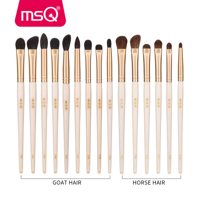 MSQ Single Eyes Makeup Brushes Set Eyeshadow Professional Concealer Blending Lip Beauty Make Up Brush Tools Goat Hose Hair