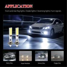 цена на 4PCS H1 SMD Car LED Headlight 100W 6000LM Fog Lights Conversion Kit 12V LED Lamps/Light Bulbs For Cars High/Low Beam 6000K