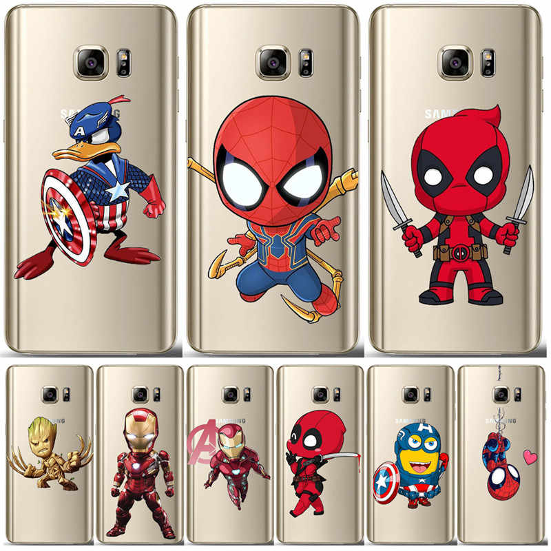 Deadpool Marvel para Samsung Galaxy S6 S7 borde S8 S9 S10 Plus Lite Nota 8 9 10 M10 M20 M30 funda para teléfono Plus pro