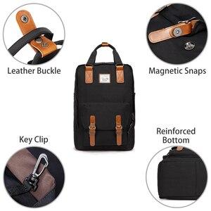 Image 3 - Vaschy mulheres mochila de viagem sacos de escola para meninas sacos de bookbag portátil mochila feminina