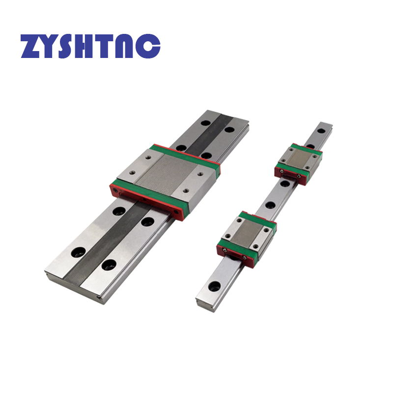 Free shipping CNC miniature linear rail MGW9C MGW12H MGW15H flanged widen linear block L=100 200 300 400 <font><b>450</b></font> 500 600 MGW9 MGW15C image