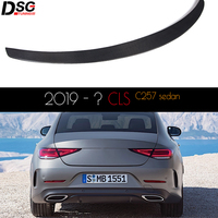 For 2018+ CLS Class Coupe (C257) Carbon Fiber Boot Lid Trunk Spoiler w/ Adhesive Tape OEM Fitment UV Cut