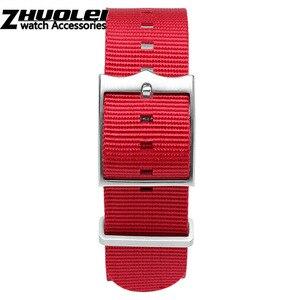 Image 5 - Militaire Nylon horlogeband Tudor Horloge Band 22mm Franse Troepen Nato Zulu Parachute Armband Accessoires