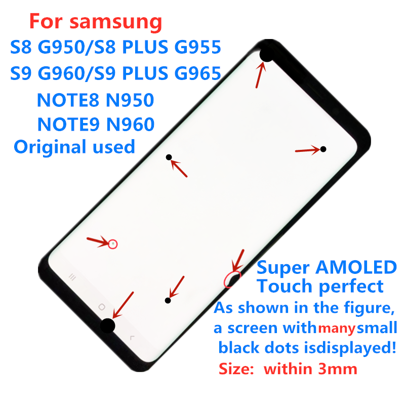 Super <font><b>AMOLED</b></font> touch display Original Display touch <font><b>screen</b></font> For <font><b>Samsung</b></font> S8 S8PLUS <font><b>S9</b></font> S9PLUS NOTE8 NOTE9 s8+<font><b>s9</b></font>+ lcd <font><b>screen</b></font> assembly image