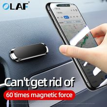 OLAF Magnetic Car Phone Holder Dashboard Mini Strip Shape Stand For iPhone Samsung Xiaomi Metal Magnet GPS Car Mount for Wall
