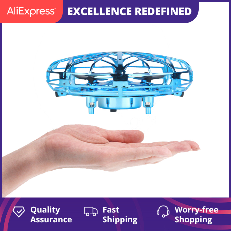 Mini Helicopter RC UFO Drone Aircraft Hand Sensing Infrared RC Quadcopter Electric Induction Toys for Children Christmas Gift 1