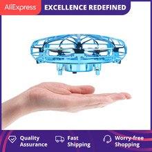 미니 헬리콥터 RC UFO Dron 항공기 손 감지 적외선 RC Quadcopter 어린이를위한 전기 유도 장난감 미니 무인 항공기