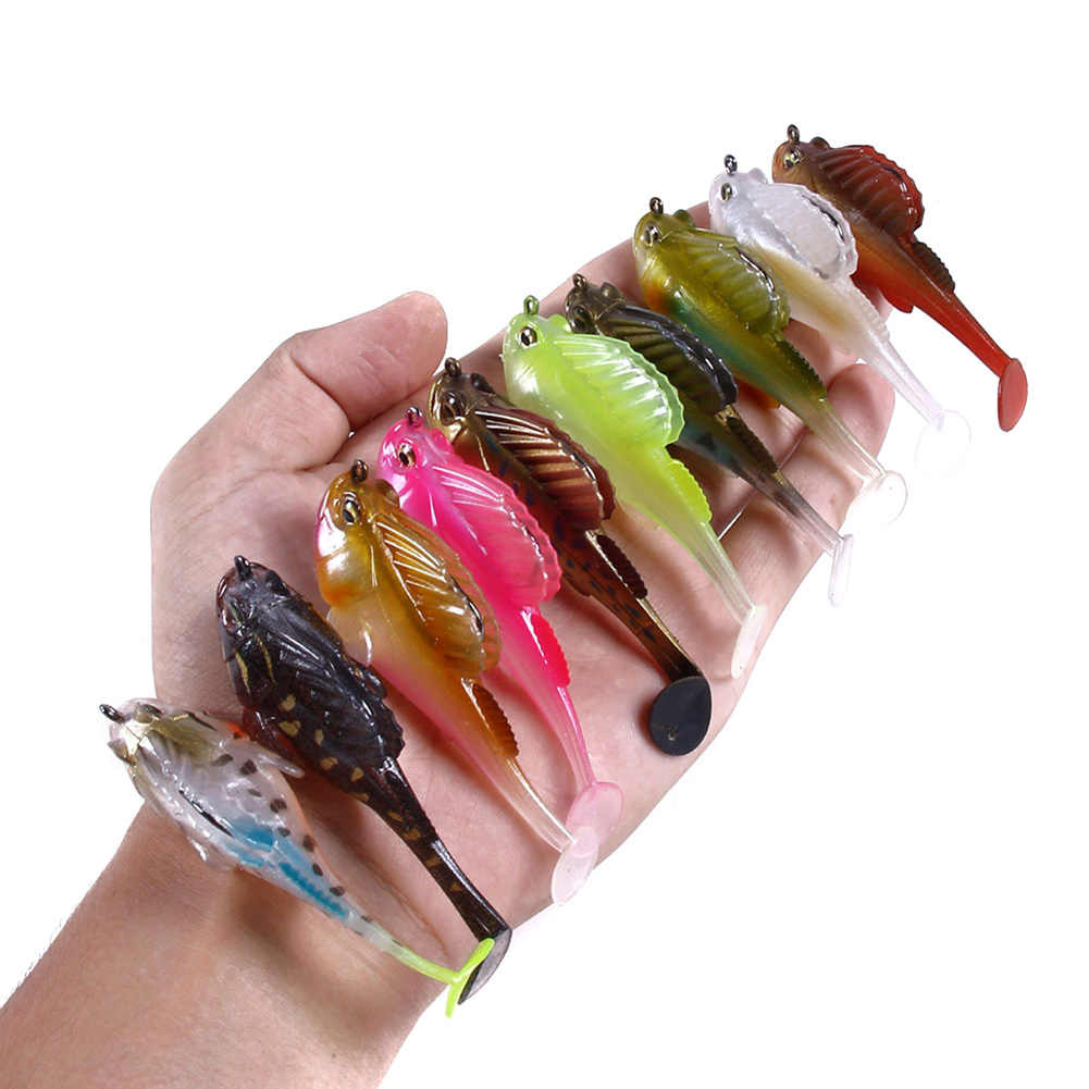 Nueva llegada Swimbait 7CM 14G Megabass oscuro sueño de cuerpo suave Swimbait profundo corriendo cola Paddle Swimbait Dropshipping. Exclusivo. Caliente venta
