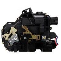 1pcs Black Rear Left Door Lock Mechanism Actuator For GOLF BORA Saloon 1998 2005 LUPO PASSAT B5 MK4 UQ03