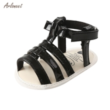 ARLONEET Kid Shoes Leather Girls Shoes kids Summer Baby Girls Sandals Shoes Skidproof Toddlers Infant Children Kids Shoes Summer cheap Rubber Soft Leather Flat Heels Hook Loop Fits true to size take your normal size 0-1M Plain Gladiator Unisex Flat with