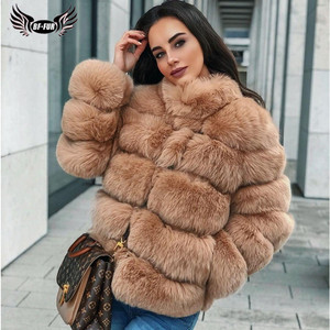 Image 3 - BFFUR Real Natural Fox Fur Coat Luxury Women Genuine Leather Fur Female Jacket Winter Thick Collar Support Customization Solid