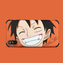 For iPhone 8 case Japanese Anime One Piece Luffy  Phone for coque 7 Plus 6s X XR XS Max silicone cover