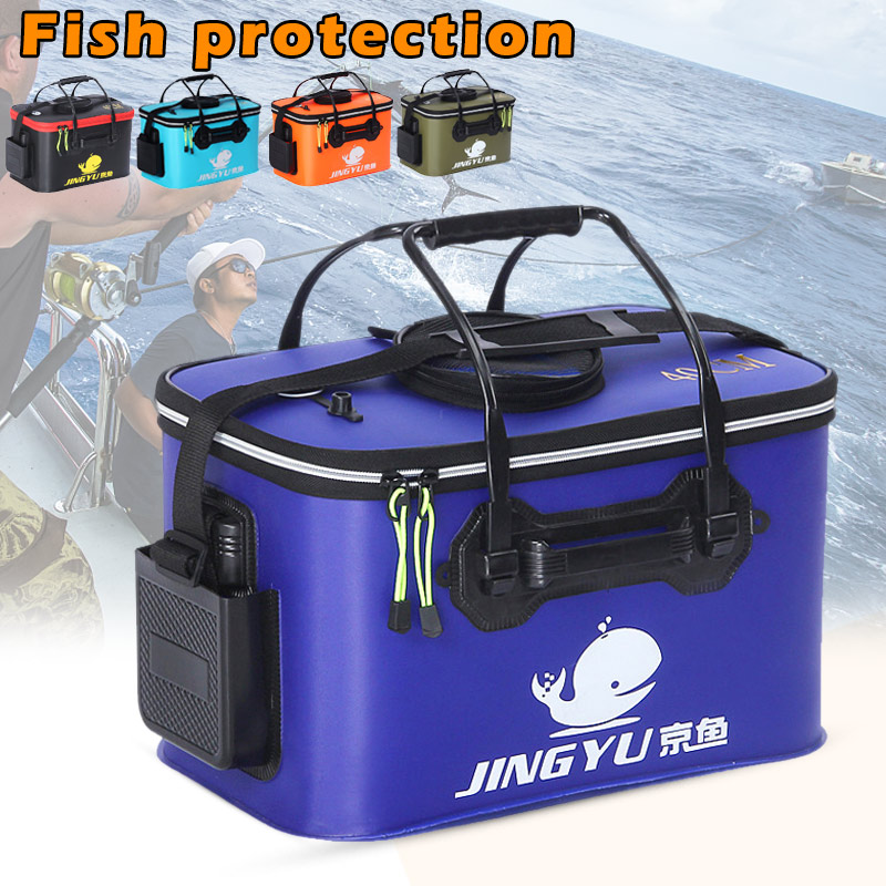 Portable Folding Fishing Bucket Outdoor Barrel Camping Travel Fishing Storage Tool XR Hot Fishing Tackle Boxes     - title=