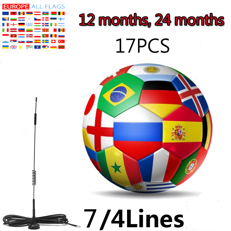 17pcs new 2020 Cccam Europa latest and most stable Cline Spain Portugal Poland Germany satellite TV receiver