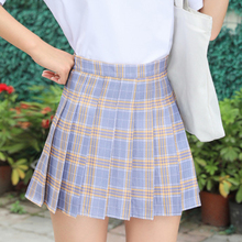 Girls Tennis Skirt High Waist Pleated Skirt Student New Sports Plaid Skirt Running Fitness Tennis Skirt недорого
