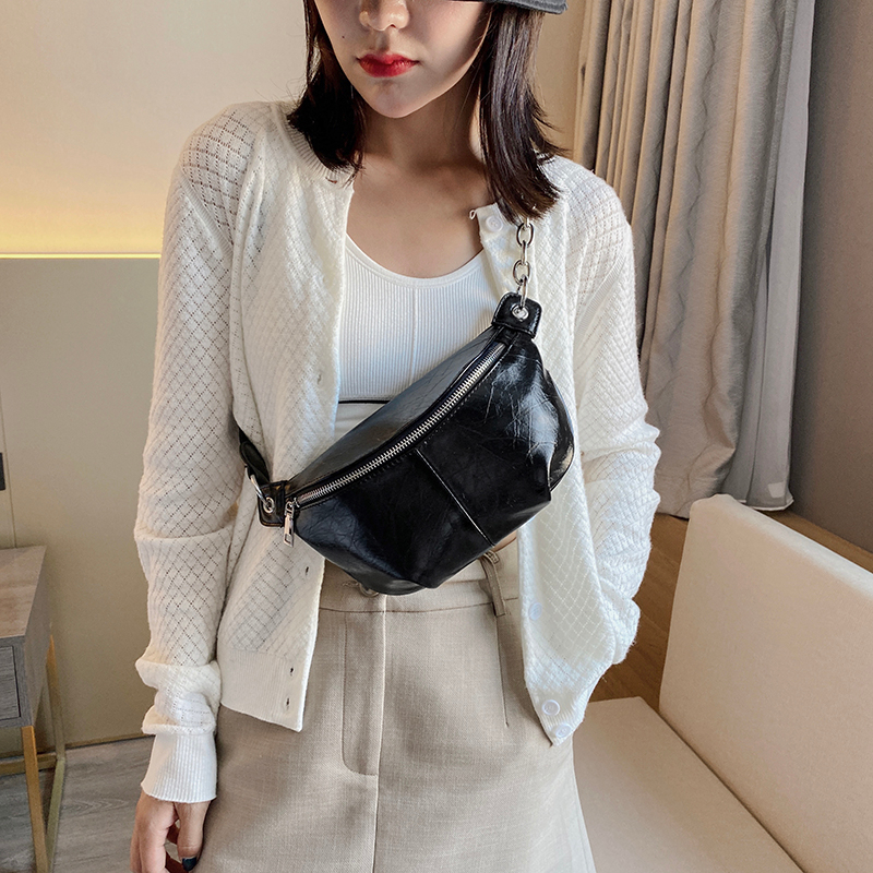 Fashion Small Chain Designer Vintage PU Leather Crossbody Shoulder Bags For Women 2020 Branded Handbags Solid Color Women's Bags