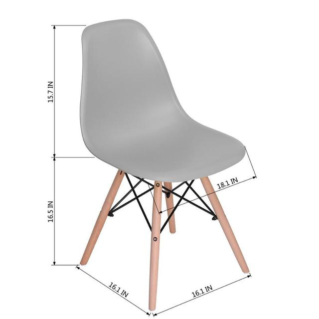 4 Modern Dining Chairs 6