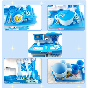 2020 New Cooking Toys Set Music Pretend Large and Light Cooking Toys Kitchen Game Set Kitchen Toys for Young Children