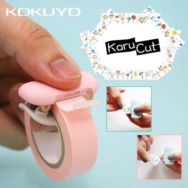 1pcs KOKUYO Karu-Cut Tape Dispenser and Paper Tape Mini Clip Tape Cutting Clip Student School Office Supplies Tape Holder