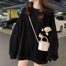 Свитшот женский свободного покроя Модный пуловер с милым медведем