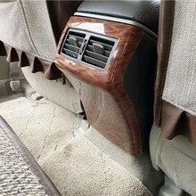 Estilo do carro acessórios interiores para toyota camry 2006  2011 cor de madeira traseira ar condicionado saída de ventilação capa guarnição