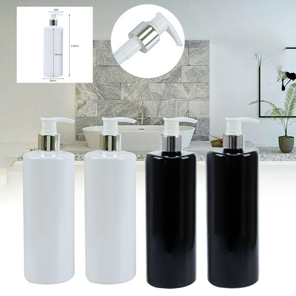 4pcs Empty Pump Dispenser Bottle Lotion/Shampoo/Liquid Soap 500ml Bathroom Accessories Portable Soap Dispensers